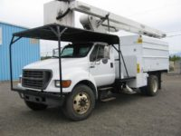 2002 Ford Versalift 60′ Forestry Bucket Truck in Oregon $42,900